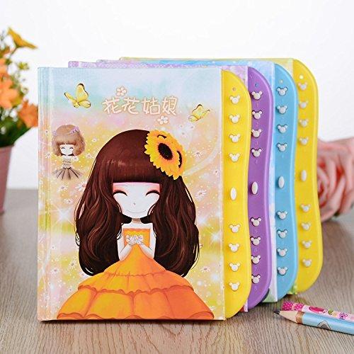 Jiada Pack of 6 Kids Secret Password Lock Dairy | Birthday Return Gift | Assorted Colours