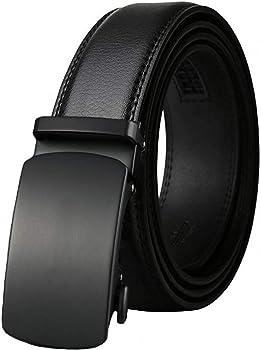 West Leathers Men's Leather Ratchet Belt