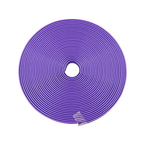 Jiahezi Tira de recorte del protector de la llanta de 8 m, línea de guardia de neumáticos Línea de goma moldeado de goma Tira de la cinta adhesiva Preguntas de la rueda de construcción simple para evi