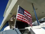 SPEARFISHING WORLD American Flag with Pole for Boat Rod Holder US Flag