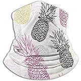 Vector Amarillo Gris Rosa Piña PolkDot Verano Tropical Invierno Cuello Calentador Polainas Cinta para el cabello Tubo Mascarilla Bufanda térmica