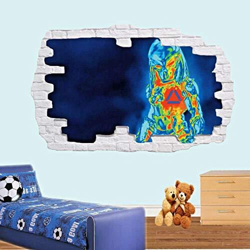 YFLDK 3D Wandaufkleber Wärmebildkamera Röntgenwandaufkleber 3D-Effekt Kunst Poster Aufkleber Wandbild