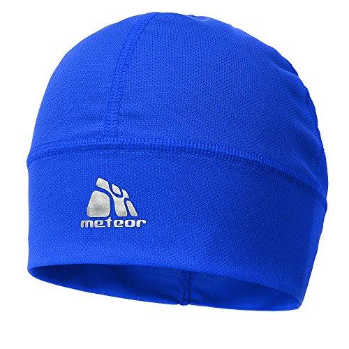meteor® Ghost Gorro de con iones de plata - Unisex resistente al viento Skull Cap Ideal como tocado para 's Correr, esquí, snowbording, Correr, o para entrenamiento en bicicleta - Debajo del Casco (azul)