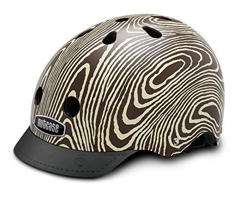 Nutcase - Patterned Street Bike Helmet for Adults, Tree Hugger, Medium