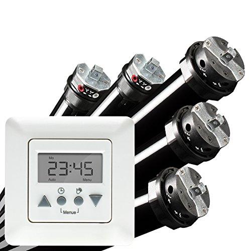 NOBILY *** PROFI-SET/Maxi - Rolladenmotor Rohrmotor Rolladenantrieb P5 10/15-60 (Zugkraft 25kg) + Vestamatic Time Control Zeitschaltuhr EAN 4260355821019
