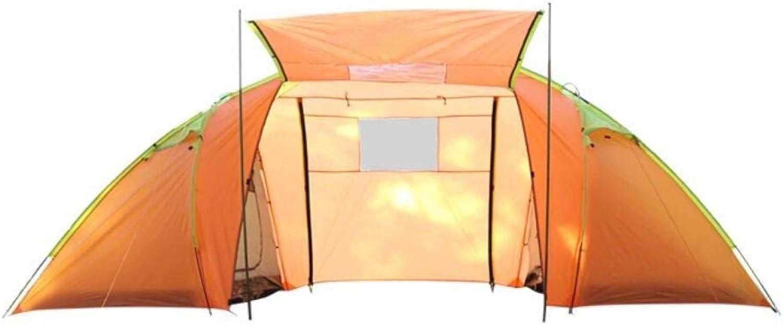 WENYAO Outdoor-Produkte Hochwertige Outdoor-Zelte mit Zwei Schlafzimmern, multifunktionale Zelte für 5-8 Personen, Regen-, Sonnenschutz- und tragbare Family Field Dinner-Zelte