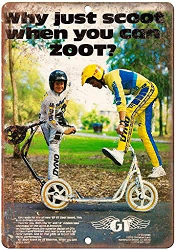 GT Zoot BMX Scooter Vintage Freestyle Bike B465 Carteles de metal vintage Carteles de chapa retro Cartel Placa Decoración de pared Bar Casa Garaje Taller al aire libre 8 × 12 pulgadas