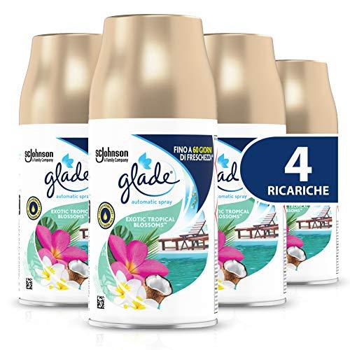 Glade Automatic Spray Ricarica, Fragranza Exotic Tropical Blossom, Formato Scorta, 1 Confezione da 4 X 269 ml