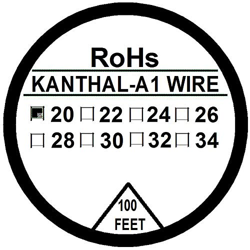 Kanthal A1 Typ Widerstandsdraht 30 Fuß (10m) Spule 22-32 G AWG (20G)