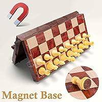 UNEEDE Magnetici Scacchi e Dama con Confezione Portatile,2-in-1 Scacchiera Standard Pieghevole Gioco Intelligente per Bambini Adulti 32*32cm #3