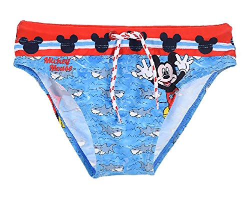 Disney Costume Topolino Mare Bambino Mickey Mouse Originale Slip Bagno da 3 Anni a 8 Anni (3 Anni)