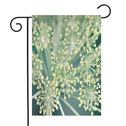 Welcome Garden Flag Fennel Foeniculum Close Or Twig Medicine Vulgare Vegetarian Best Food Medium Scale Nature Textures Seasonal Garden Flags for Patio Lawn Outdoor Home Decor Gift 12 X 18 Inch