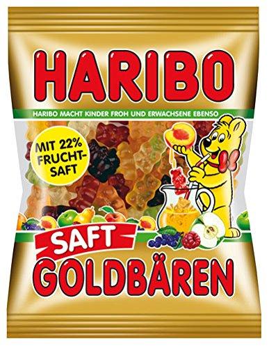 Haribo Saft-Goldbären, Gummibärchen mit 22% Fruchtsaft - 175gr - 2x