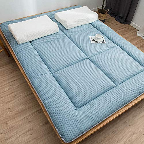 Japanese Tatami Mattress, Thicken Foldable Roll Up Sleeping Pad Breathable Soft Portable Floor Mat For Single Double Camping (Color : G, Size : King:180x200cm(71x79inch))