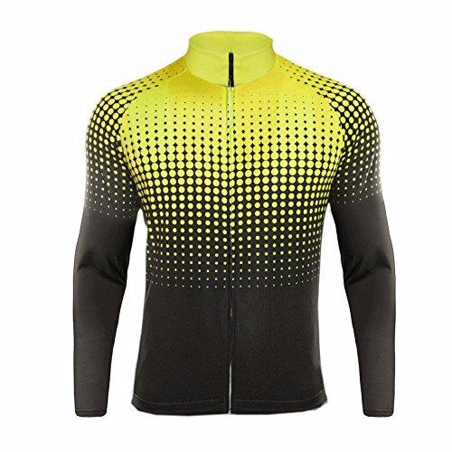 Uglyfrog HIWLJT11 Maglie Ciclismo Uomo MTB Inverno Caldo Fleece Maglie Ciclismo Bici Manica Lunga Traspiranti e Ad Asciugatura Rapida Abbigliamento Ciclismo