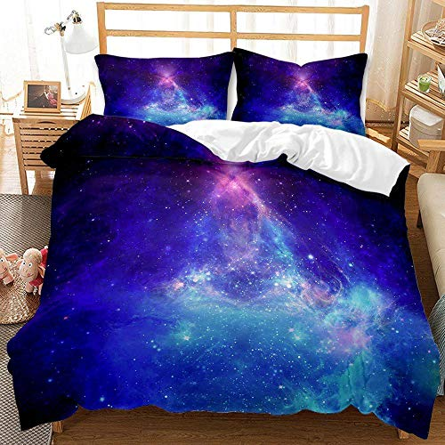 Cttfbys mtsubllk Planet space bedding set, 3D printed Mars astronaut duvet cover and pillowcase, suitable for themed bedroom and apartment-C_230*260cm(3pcs)