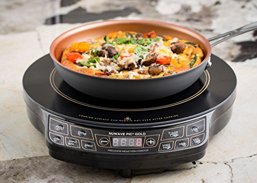 Enjoy this Special Deal with NuWave PIC GOLD 1500 Watts- Induction Cooktop With Healthy Ceramic 9' Fry Pan