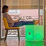 Cubo altavoz bluetooth con luz Led RGBW 53cm solar y batería recargable