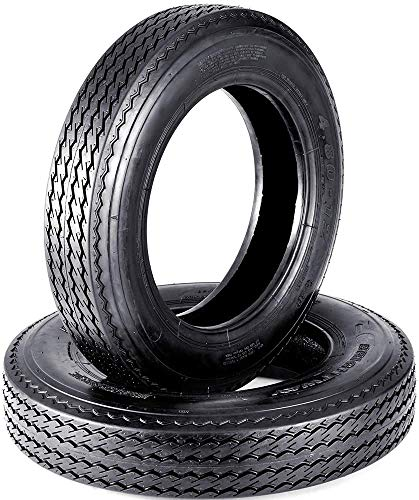 Set of 2 VANACC 4.80-12 Bias Trailer Tires 6PR 480-12 4.80x12 Hightway Boat Motorcycle Tires Load Range C