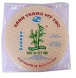 Papel de arroz vietnamita, forma redonda, 22 cm, 340 g, para hacer rollitos de primavera, ideal para verano