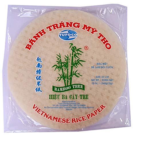 Rollo de papel de arroz vietnamita redondo, 22 cm, 340 g, para...