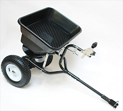 Salzstreuer / Düngerstreuer / Schleuderstreuer mit Anhängemöglichkeit für Rasentraktor / ATV Kupplung 45 Liter / 36 kg;;;;;