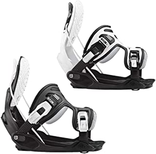 Flow Alpha White and Black Stormtrooper Snowboard Bindings 2020 - Large - Upgraded