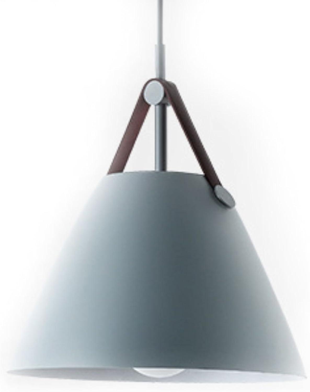 Lustre E27 Ceinture Droplumière Conique Nordique Moderne Lustre Restaurant Bar Lampe de Salon Simple Aluminium Lustre (couleur  gris) (taille   S)