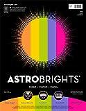 Astrobrights Color Paper, 8.5' x 11', 24 lb/89 gsm,'Joy' 5-Color Assortment, 500 Sheets (91414)