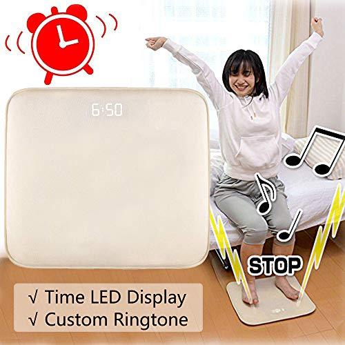AnseeDirect Wecker Aufstehen Smart Alarm Digitaler Wecker Bettvorleger Fußmatte Teppich Läufer mit LED Display und individuelle Töne mit USB einfach aufstehen