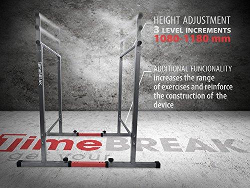 K.Sport Fitness Parallele 108cm mit Secure Base Parallele Calisthenics Parallele Fitnessstudio