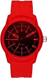 Diesel Men's Armbar Silicone Casual Watch, Color: Red (Model: DZ1820)