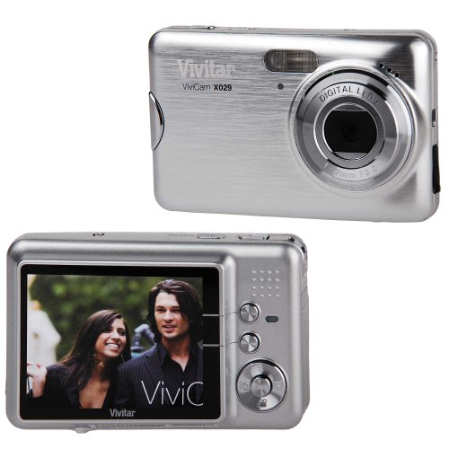 Vivitar ViviCam X029 10.1 MP 2.4-in Screen with 4x Zoom Digital Camera (Silver)