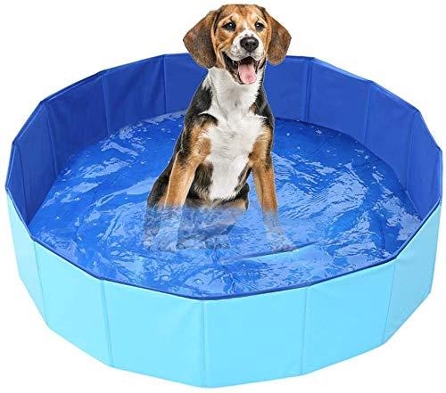 YUIP Piscina Plegable para Perros, Plegable PVC Piscina Bañera para Gatos Animales Bebes Grandes, Adecuado para Uso en Interiores y Exteriores(60x20cm)