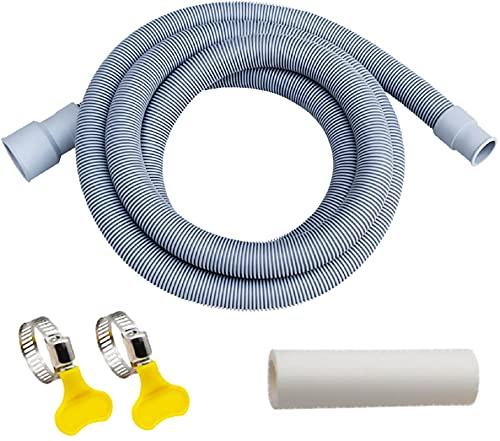 Lvjkes Tubo Desague Lavadora, Lavadora de manguera de desagüe, Drenaje de tubería de salida de lavadora Universal suave y anti-grietas utilizado para drenar el agua de lavandería