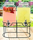 Estilo 1 gallon Glass Mason Jar Double Beverage Drink Dispenser...