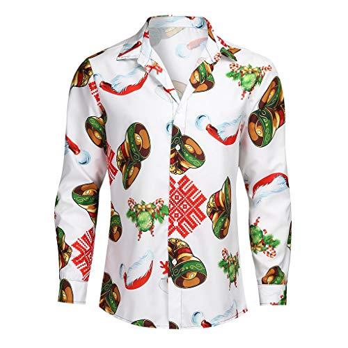 VANMO Herren T Shirt,2020 Herbst Herren Plaid Business Freizeithemd Langärmlige Shirts mit Umlegekragen Trachtenhose skiunterwäsche Herren günstige t Shirts Sport t Shirt Herren