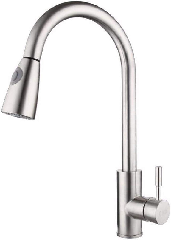 SCJ Küchenarmatur Ausziehbare Küchenarmatur Warmes und kaltes Waschbecken Verlngerung Verlngerung Wasserhahn 304 Edelstahl Wasserhahn