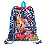 Disney- Bolsa Merienda Mickey Race, Multicolor, 34 cm (4283761)