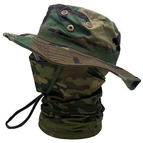 Boonie Bucket Hat Sombreros de ala Ancha para el Sol para Acampar al Aire Libre Pesca Militar Caza Airsoft (TP-WL)