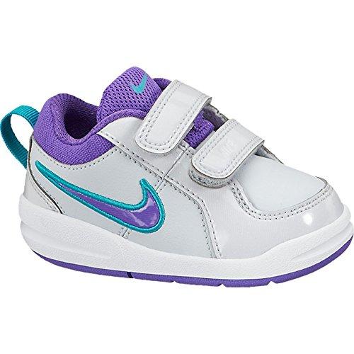 Nike Pico 4 (TDV) Kinderschuhe Pure Platinum-Turbo Green-Purple - 23,5