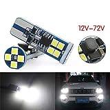 DuaBhoi T10 LED ホワイト 爆光 12V-72V車兼用 無極性 12連3030チップ 高輝度 W5W 194 168 ポジションライト インテリアライト ナンバープレート ライト デジタルライト 自動車 オートバイ 電気自動車ト ラック24V 48V 56V 70V 1年保証