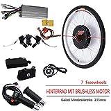 OUKANING - Kit de conversión de Motor eléctrico para Bicicleta de 48 V, 1000 W, 28 Pulgadas, Velocidad de Rueda Trasera