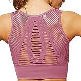 UMIPUBO Sujetador Deportivo Mujer Material Cómodo Sin Costuras Almohadilla Desmontable para Gimnasio Yoga Bailar de Alto Impacto