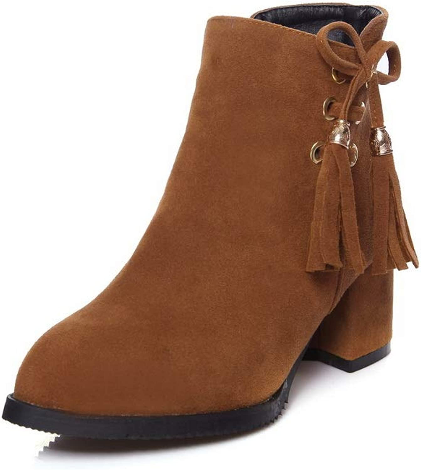 1TO9 Womens Platform Solid Fringed Urethane Boots MNS02727
