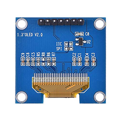 Xirfuni 3.3V〜5V DC Leichtes OLED-Bildschirmanzeigemodul, OLED-Anzeigemodul, 1,3 Zoll verbrauchsarmer SSH1106 für OLED Screen Arduino Project