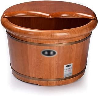 Qing MEI Oak Foot Bath Barrel Foot Bath Barrel Foot Bath Tub Foot Bath Pedicure Barrel with Cover Wooden Foot Bath Tub A++