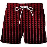 JiaMeng-ZI Pantalones para Hombre Estilo Hawaiano Verano Pantalones Cortos de...