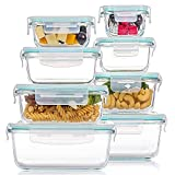 8 Pack Glass Food Storage Containers with...