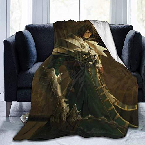 XCVD Castlevania Fleece Throw Blankets Ultra Suave, cálida y acogedora, Manta de Felpa, Franela antipilling, para Todas Las Estaciones, para sofá Cama, 60